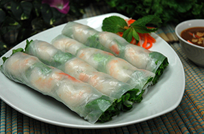 Pho Dui Bo Fresh Shrimp Rolls